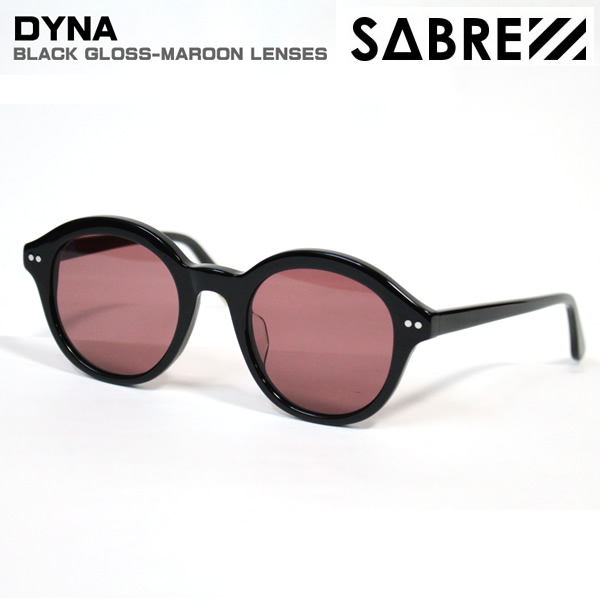sabre サングラス DYNA/BLACK-GLOSS/MAROON LENSES SS7-514B-M-J セイバー サングラス【C1】【s2】