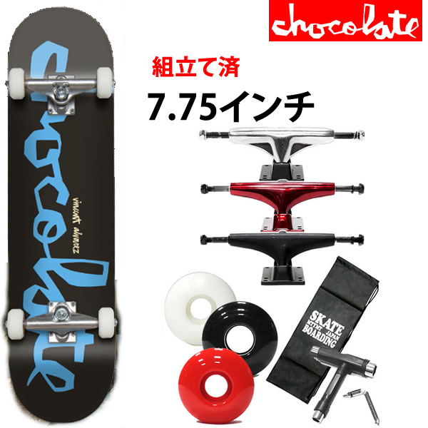 スケボー コンプリート チョコレート CHUNK/VINCENT ALVAREZ 7.75×31.125インチ chocolate skateboards スケートボード 完成品【s2】