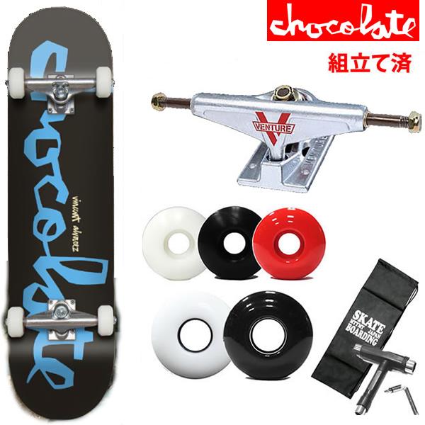 スケボーコンプリート チョコレート ベンチャートラックセット CHUNK/VINCENT ALVAREZ 7.75×31.125インチ スケートボード 完成品【s2】