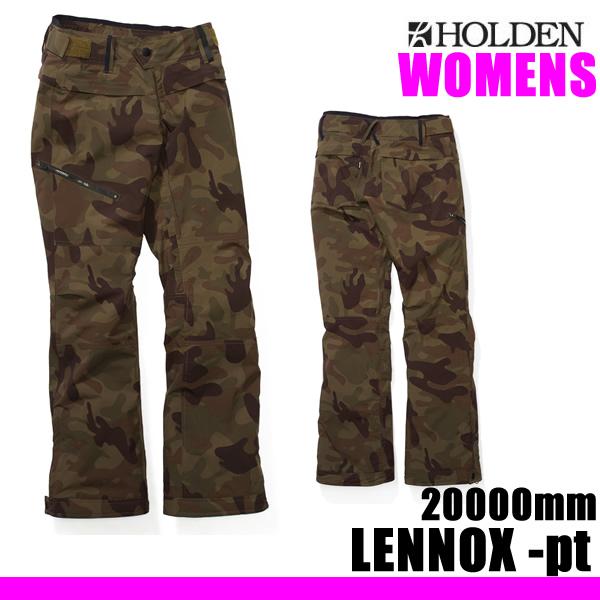 処分価格!!ホールデン レディース  ウェア スリムパンツ 18-19 LENNOX -pants / CAMO  (2018-2019 18-19) HOLDEN ウエア スノーボード ウェア【C1】【s2】