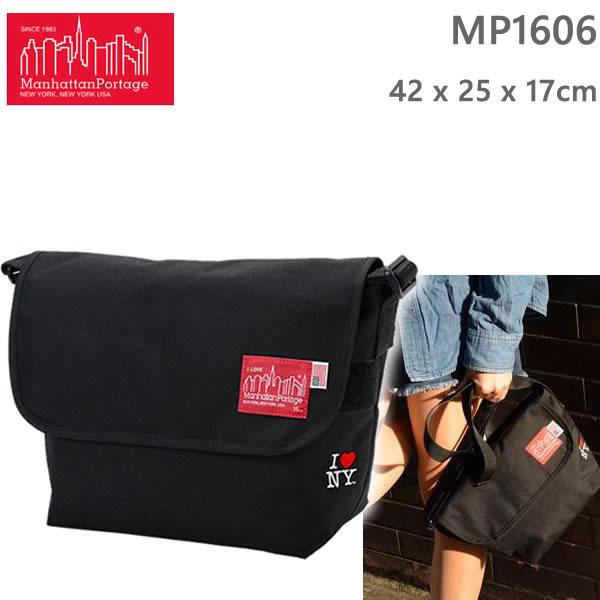 ●5月10日までポイント5倍●マンハッタンポーテージ リュック  I love NY Casual Messenger Bag ブラック MP1606JRINY-35TH Manhattan Portage 【バックパック・リュックサック】【s2】