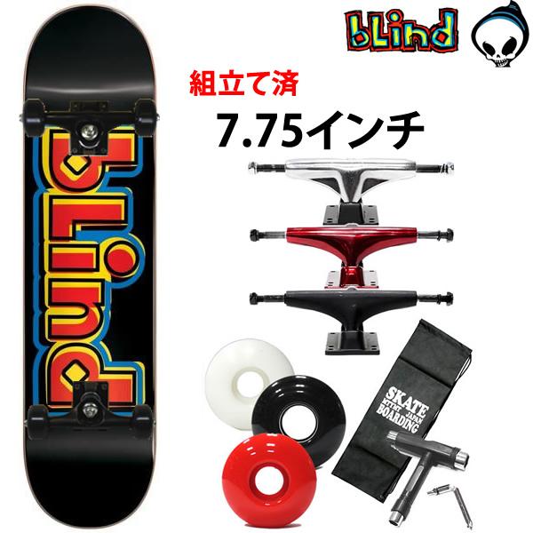 スケボー コンプリート BLIND SCRAMBLE BLACK 7.75×31.2インチ スケートボード 完成品 【s3】