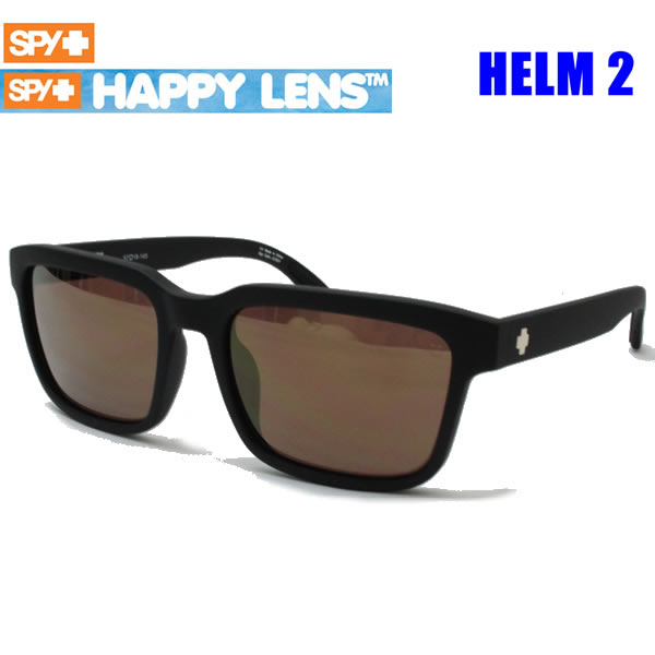 SPY スパイ サングラス メンズ HELM2 SOFT MATTE BLACK - HAPPY BRONZE W/ GOLD SPECTRA HAPPYレンズ 648478787971 ヘルム【C1】【s2】