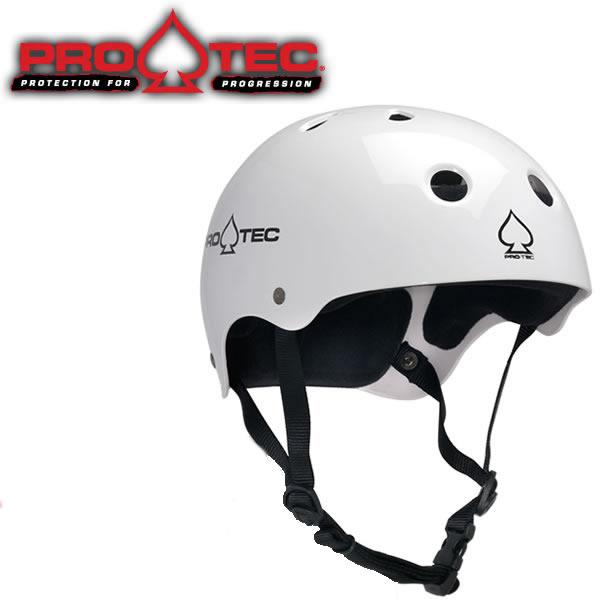 スケボー ヘルメット PROTEC HELMET CLASSIC SKATE グロスホワイト (子供用)(女性用)(大人用)(スケートボード)(インライン)【s7】