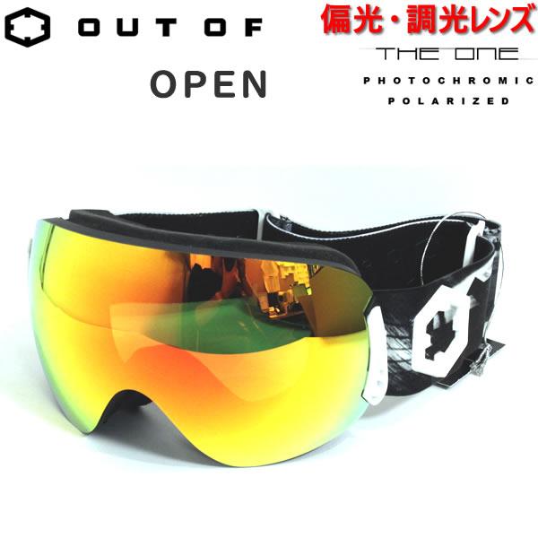 アウトオブ ゴーグル OPEN SKATE THE ONE FUOCO 偏光・調光レンズ(18-19 2019) スノーボード スキーゴーグル【C1】【s9】