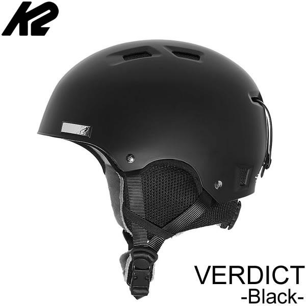 K2 ケーツー ヘルメット 2019 VERDICT ブラック バーディクト 18-19 K2 helmet スキー&スノーボードヘルメット スノー用品 【C1】【s0】