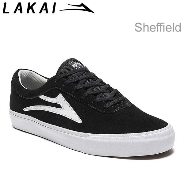 ラカイ スニーカー LAKAI SHEFFILED Black Suede LAKAI スニーカー スケボー シューズ【C1】【s2】