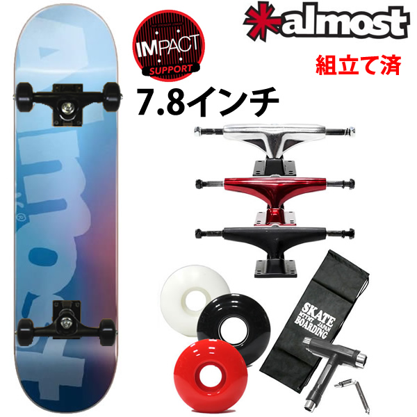 スケボー コンプリート オールモスト SIDE PIPE BLURRY HYBLUE 7.875×31.4インチ almost skateboards スケートボード 完成品【s2】
