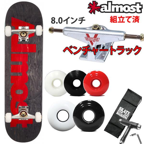 スケボーコンプリート ベンチャートラックセット ALMOST ULTIMATE LOGO 7.875×31.4インチ スケートボード 完成品【s3】