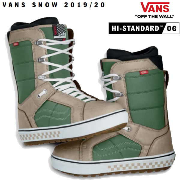 VANS スノーボード ブーツ HI-STANDARD OG ハイスタンダードOG/(JAKE KUZYK) GREEN/KHAKI(19-20 2020)バンズ スノーボード ブーツ【s2】