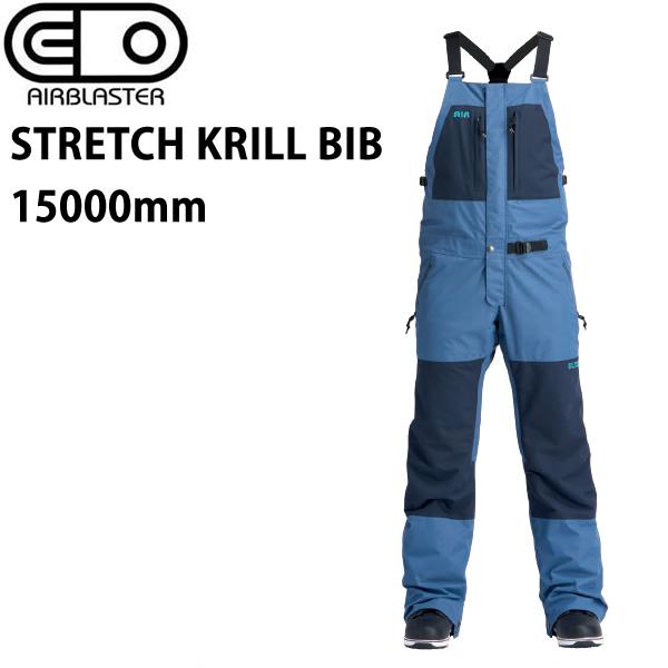 エアブラスター ウェア 19-20 STRETCH KRILL BIB -pants / NAVY ビブパンツ (2019-2020) AIR blaster ウエア  スノーボード ウェア メンズ【C1】【s0】