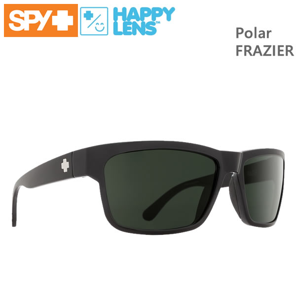 SPY サングラス FRAZIER/BLACK/Happy Grey Green Polar 偏光・ハッピーレンズ 673176038864【C1】【s2】