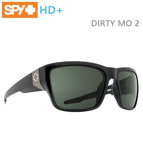 SPY サングラス DIRTY MO 2/BLACK/HD Plus Gray Green 6700000000014【C1】【s2】