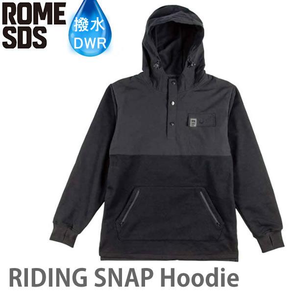 ローム スノーボード ウェア RIDING SNAP HOODIE / BLACK (19-20 2020) 撥水 スノーボードコーチジャケット rome sds【C1】【s2】