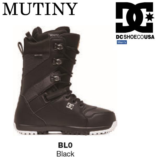 DCSHOE スノーボード ブーツ 19-20 MUTINY くつ紐 BLACK BL0 ブラック ミューティニー  ブーツケース付 DCSHOE  ディーシー スノーボード 2020【s0】