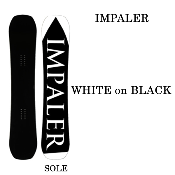 インパラー スノーボード 板 IMPALER WHITE on BLACK 149cm   (19-20 2020)日本正規品 スノーボード【L2】【代引不可】【s2】