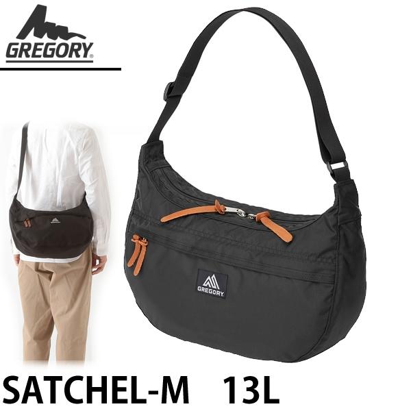 GREGORY グレゴリー ショルダーバッグ SATCHEL-M  13L サッチェルM ブラック 653331041【C1】【s2】
