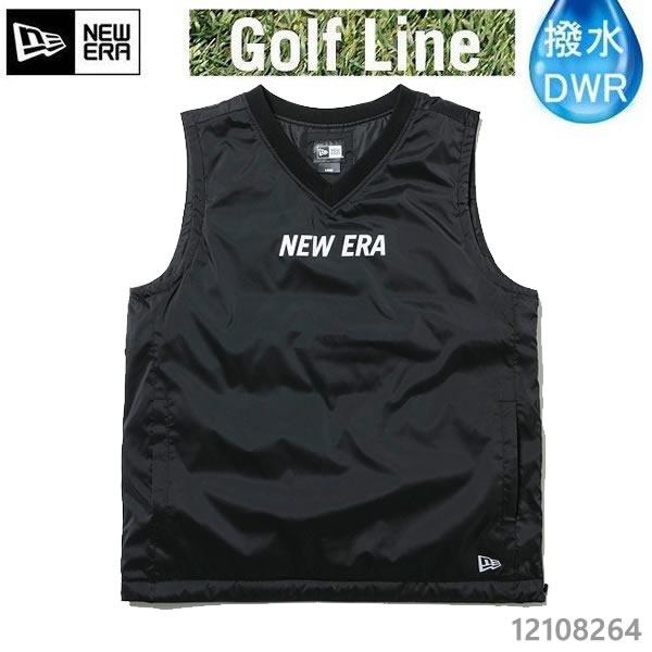 ニューエラ ゴルフ ウィンド プルオーバーベスト NEW ERA ロゴ ブラック 12108264 日本正規品 ゴルフウェア newera ゴルフ【C1】【s2】