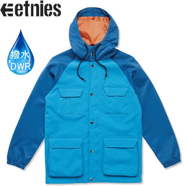 エトニーズ ナイロン防水ジャケット ETA NOMAD PARKA/ブルー 撥水加工 スケボー パーカー etnies【C1】【s2】