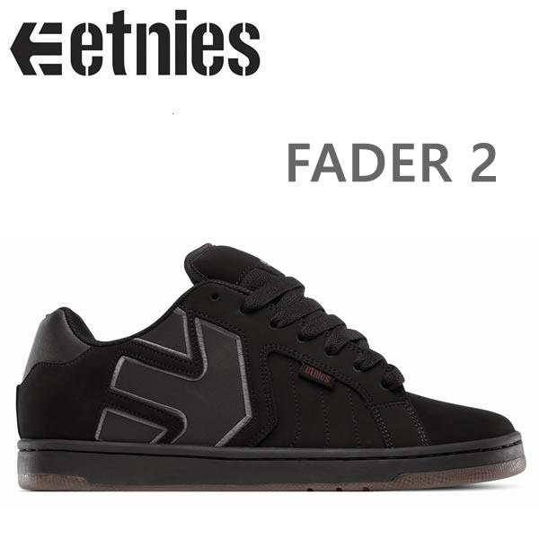 エトニーズ スニーカー FADER 2/BLACK/BLACK/BLACK etnies スニーカー エトニーズ シューズ エトニーズ スケシュー【C1】【s2】