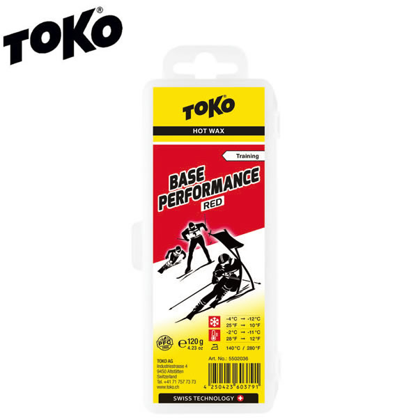 TOKO トコ ワックス TOKO トコ スキー&スノーボード ワックス ベースパフォーマンス レッド 120g 5502036 固形ワックス 【コンパクト便可能】【税込価格】【%OFF】【K1】【s2】