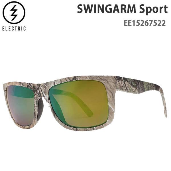 エレクトリック サングラス 偏光レンズ Swingarm Sport / REAL TREE / GREEN POLARIZED PRO -EE15267522 electric サングラス 日本正規品【C1】【s2】