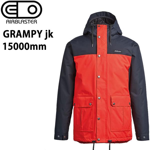 処分価格!!エアブラスター ウェア 19-20 GRAMPY -jacket / PARTYTIME RED ジャケット (2019-2020) AIR blaster ウエア  スノーボード ウェア メンズ【C1】【s2】