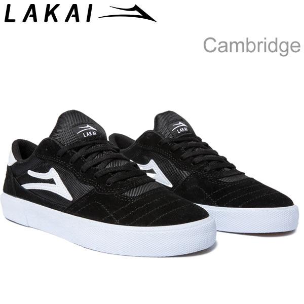 ラカイ スニーカー ケンブリッジ LAKAI CAMBRIDGE BLACK/WHITE SUEDE スケシュー スケートボードシューズ【C1】