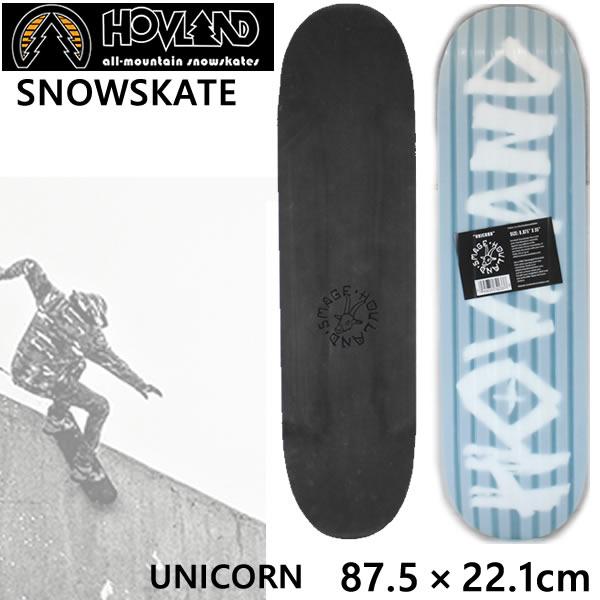 HOVLAND スノースケート SINGLE DECK  SNOWSKATES  UNICORN (87.5×22.1cm) HOTDISH ホブランド スノースケート