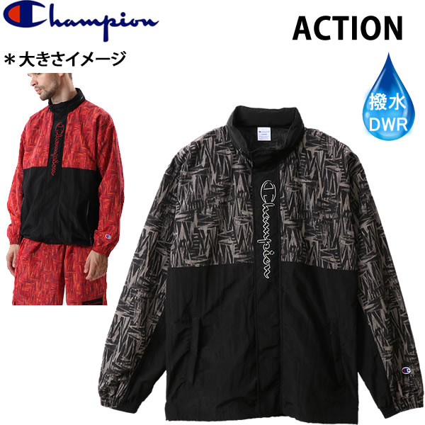 チャンピオン CHAMPION メンズ 撥水ジャケットパーカー  C3-R606 ブラック 090 FULLZIP JACKET PARKA  ACTION アクションシリーズ 日本正規品