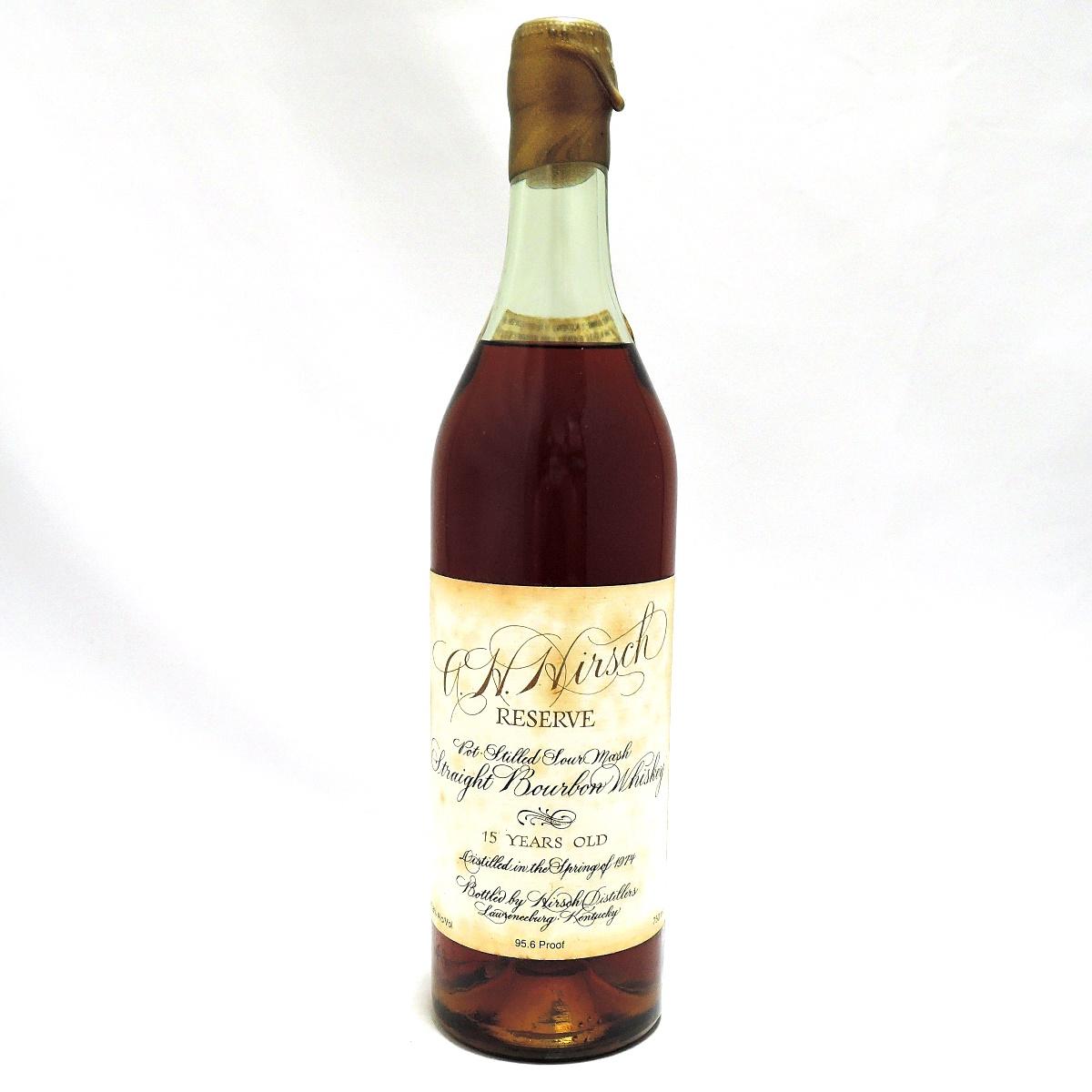 【中古】 古酒 ウイスキー バーボン ハーシュリザーブ 15年 HIRSCH RESERVE pot stilled straight bourbon whisky バーボン ウイスキー 750ml 47.8% FS 箱なし