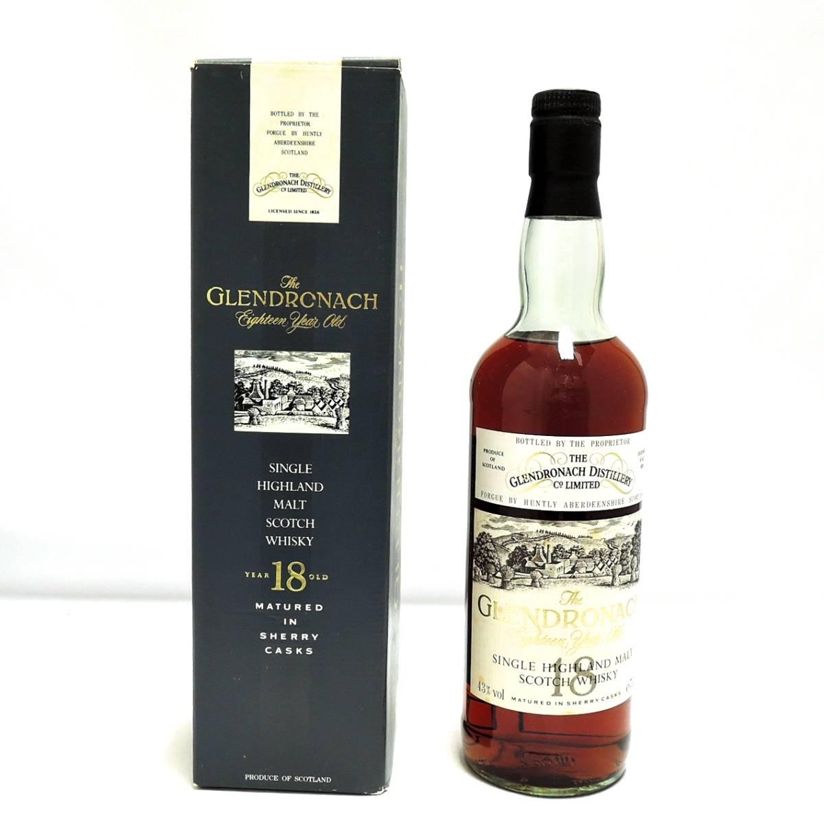 【中古】 古酒 ウイスキー GLENDRONACH 18年 グレンドロナック シングルハイランドモルト スコッチ ウイスキー 700ml 43% FS 箱あり