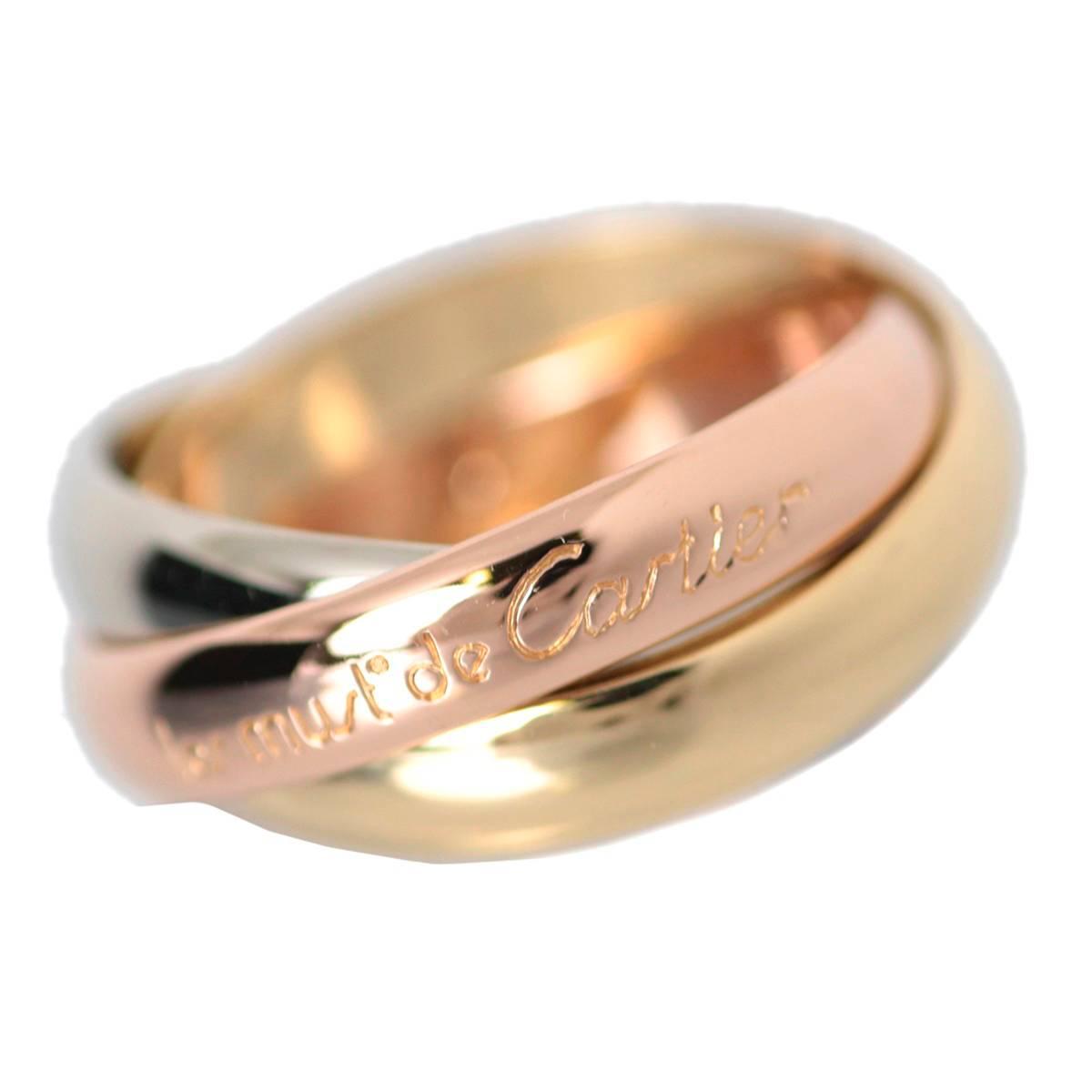 【中古】 Cartier/カルティエ トリニティ リング/ペンダントトップ K18イエローゴールド×ピンクゴールド×ホワイトゴールド 7号サイズ 総重量6.1g Trinity ring classic 18金 Ks ランクA 美品