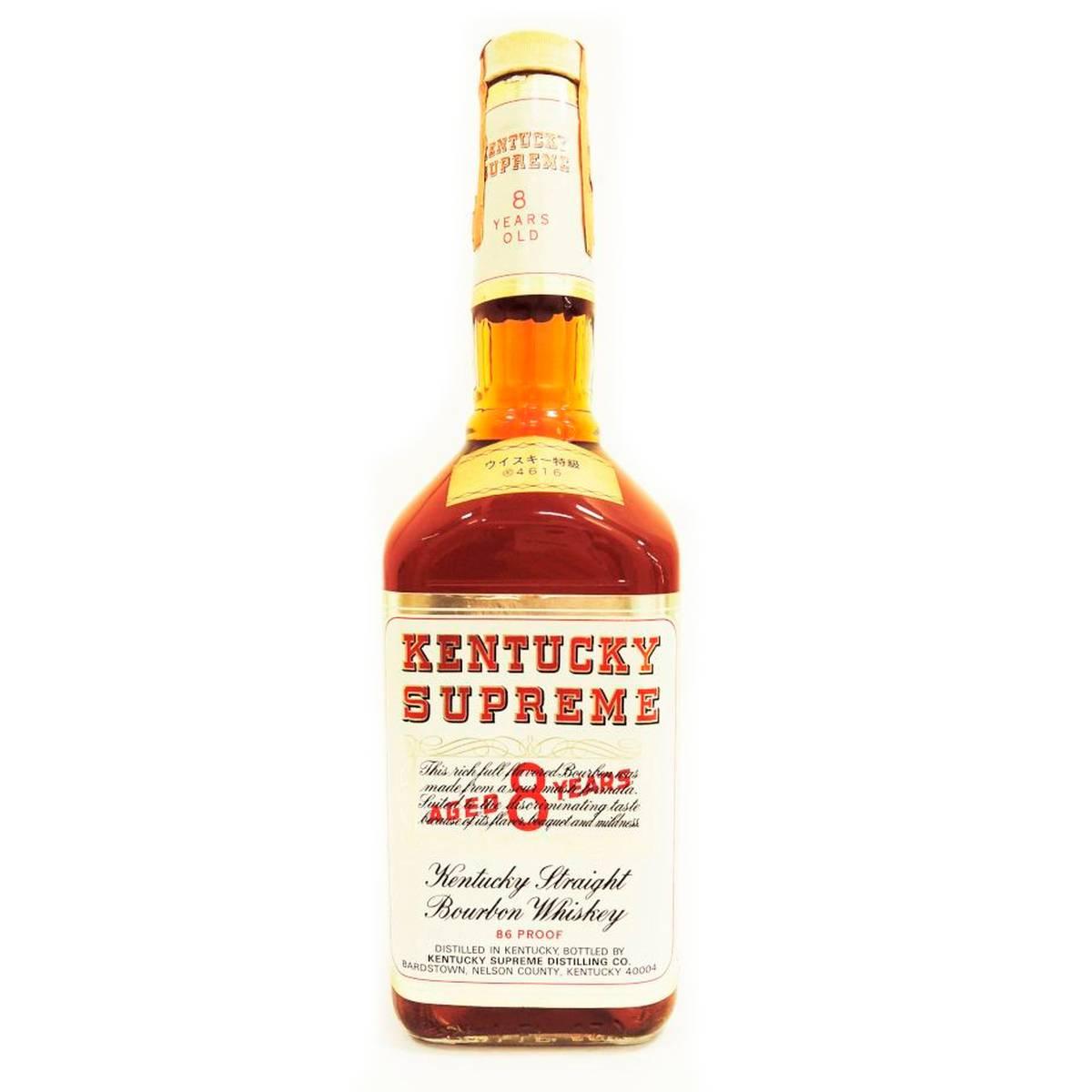 【中古】 KENTUCKY SUPREME ケンタッキー シュープリーム 8年 バーボンウイスキー 特級 オールドボトル ヴィンテージ デラックス シュプリーム 750ml 43度 古酒 Ks 未開栓