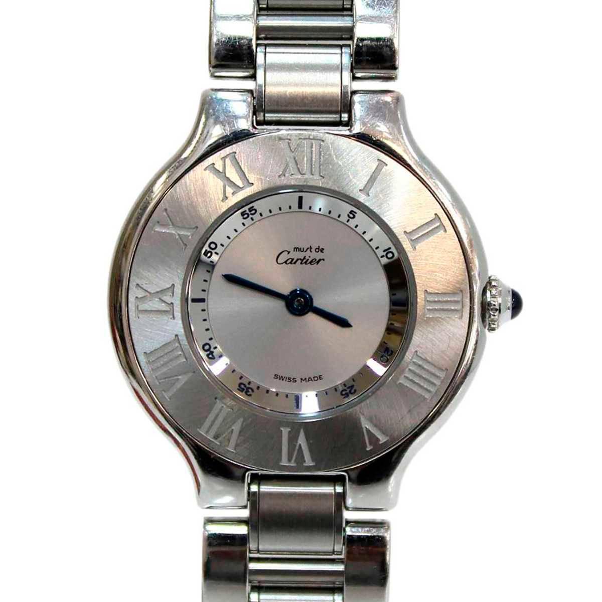 【残りわずか】 【】 Cartier カルティエ マスト21 ヴァンティアンSMレディ-ス クォーツ 時計 ES Bランク, JEANS FIRST ジーンズファースト fb801017