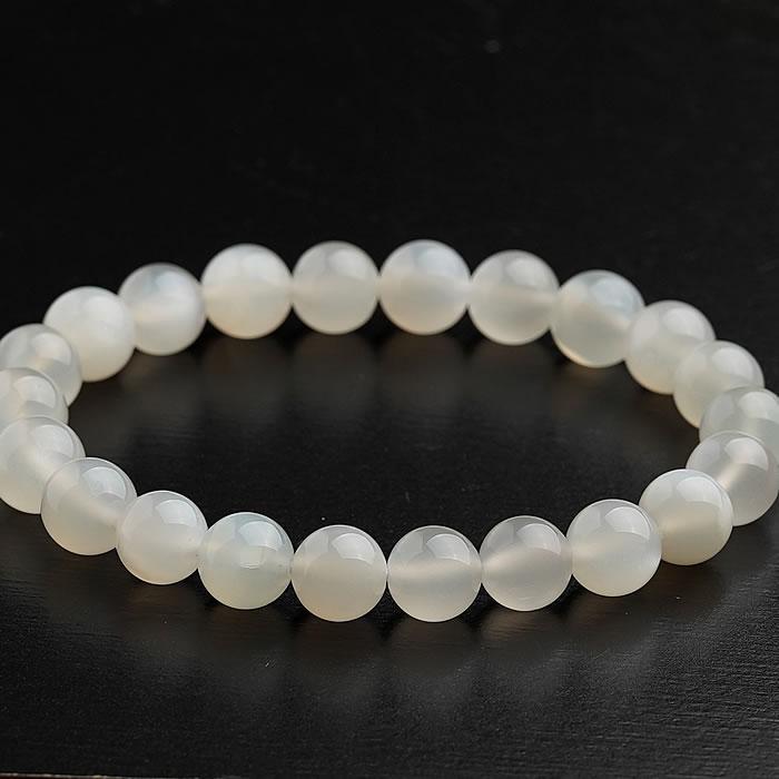 高品質ホワイトムーンストーンAAA 8mm ブレスレット 天然石 パワーストーン ホワイトムーンストーン(フェルスパー 長石類) 天然石ブレスレット パワーストーンブレスレット