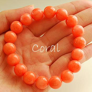 オレンジコーラル(珊瑚) 10mm ブレスレット 天然石 パワーストーン コーラル 珊瑚 天然石ブレスレット パワーストーンブレスレット さんご
