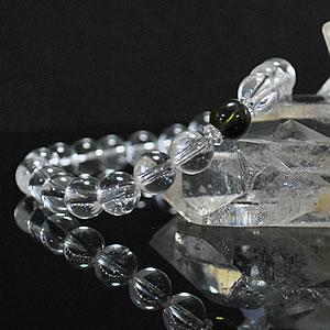 モルダバイト×ヒマラヤ水晶AAA(カンチェンジュンガ産)<天然石ブレスレット・パワーストーン>隕石|テクタイト|クリスタル クォーツ 送料無料【恋愛・美容】【能力向上】