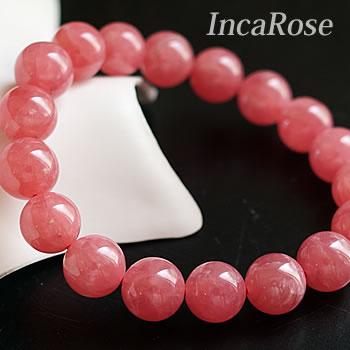 【一点もの】【高品質】インカローズ(ロードクロサイト)AAAAA 10.5~11mm ブレスレット 天然石 パワーストーン アルゼンチン産 rhodochrosite incarose