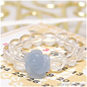 Angelite 晶体 [roseling (玫瑰)] < 自然石环、 石 > 1 1