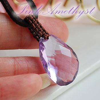 【一点もの】宝石質ピンクアメジスト 編み込み ペンダントトップ ネックレス アメジスト 天然石 パワーストーン アメジスト 天然石ペンダント パワーストーンペンダント 天然石 パワーストーン ペンダントトップ ネックレス 紫水晶