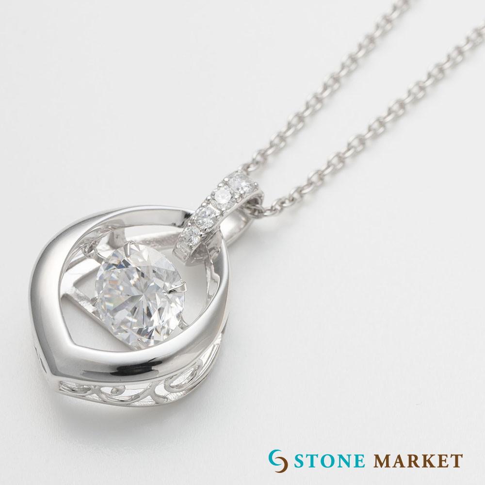 ペンダントトップ 市場 シルバー キュービックジルコニア Stone Dancing 40%OFFの激安セール しずくシルバートップ単品