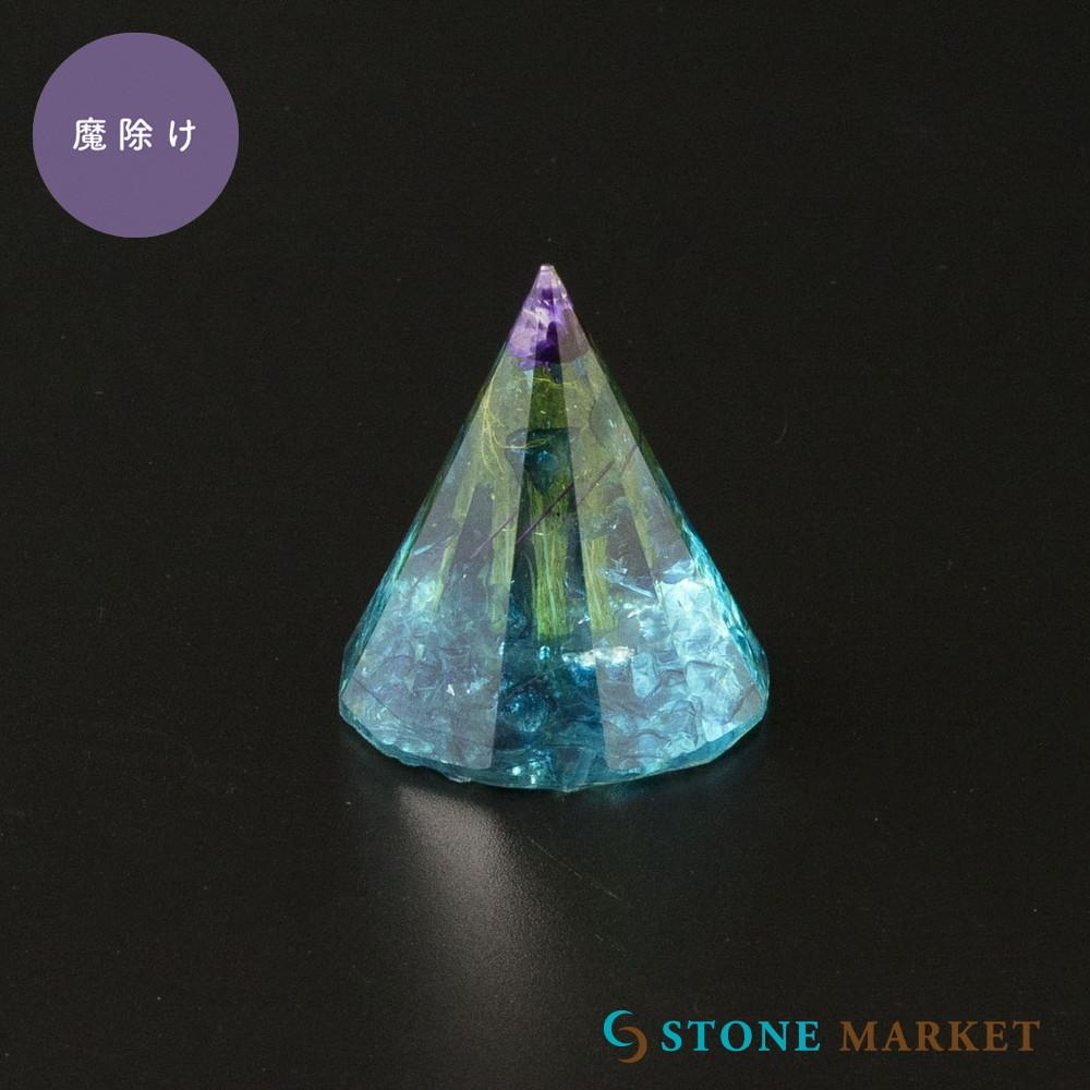 置物 天然石 ターコイズ 円柱 海外限定 数量限定 天然石入りレジン置物 有名な