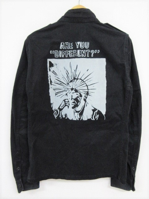 HYSTERIC GLAMOUR ヒステリックグラマー Andy Warhol×STIE lo back print M-65 ミリタリージャケット 黒 M 店/A5949【中古】