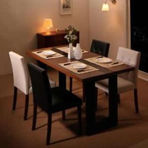 ダイニングテーブル 幅150 単品 幅150×奥行80×高さ72cm リビングダイニング 4人がけ 4人掛け 4人用 四人掛け 天然木 モダン 夫婦 新婚 家族 ファミリー ガラス天板 木目 ブラックガラス 贅沢 ホテルスタイル