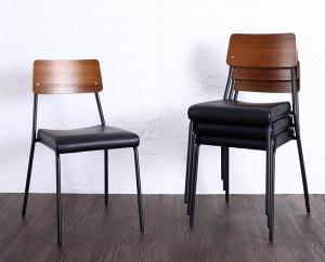 ダイニングチェア 4脚組 幅47.5×奥行54×高さ80(座面高46)cm ダイニングチェアのみ 食卓イス ダイニングチェアー 食卓椅子 チェア いす 椅子 木製チェア 木製チェアー ダイニング椅子 ダイニングいす デザインチェア スタキングチェア コンパクト