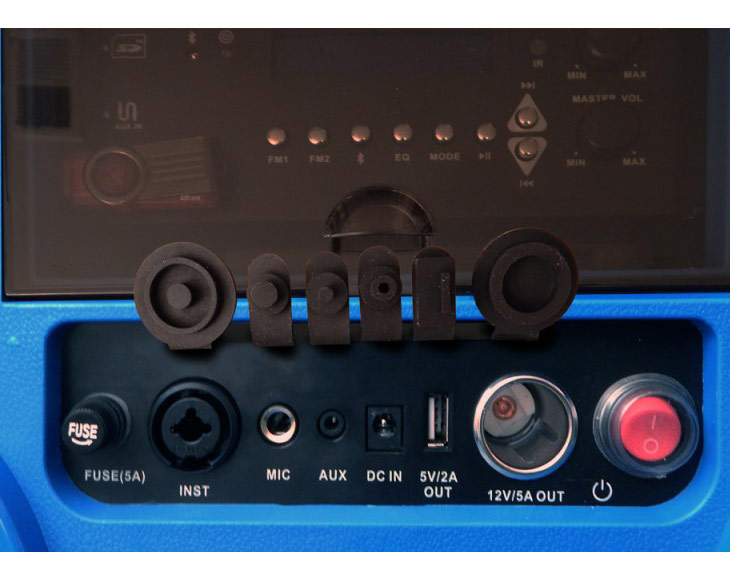 スピーカー付き クーラーボックス 37L クールマックス KOOLMAX Bluetooth 充電式 350W キャスター付 FMラジオ受信 多機能 リモコン付 KOOL MAX USB SD マイク ギター 接続可能 入力端子 CA-E065A FM ラジオ 日本仕様 正規品