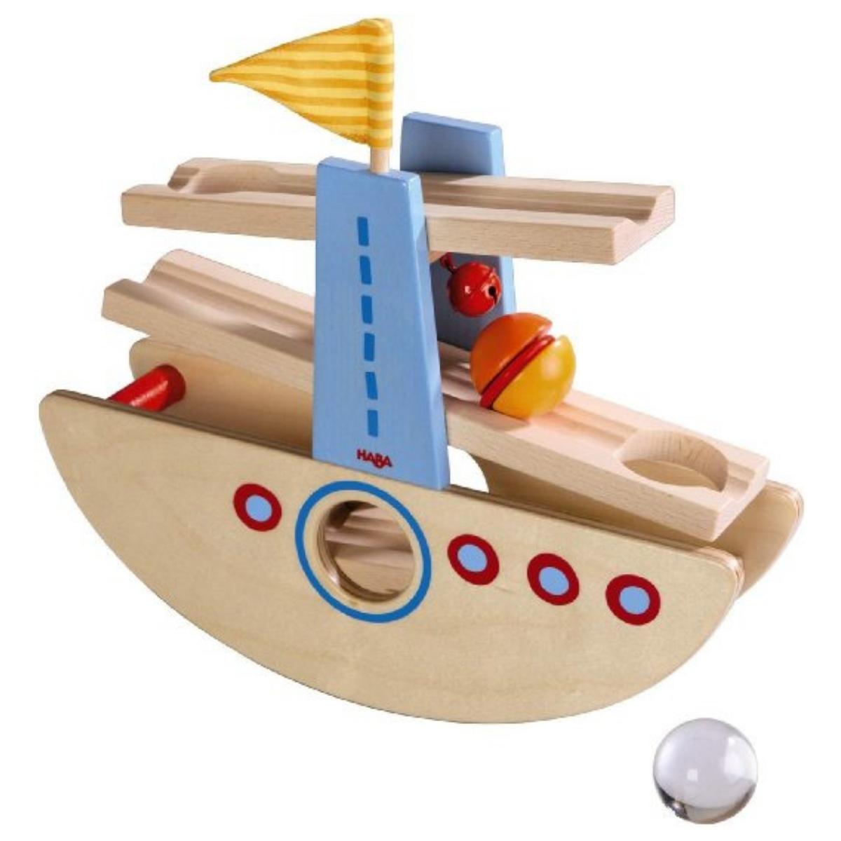対象年齢:1歳半〜 プレゼント ボールトラック HABA 6643 40ミリ基尺 はじめてのクーゲルバーン・シップ 【ラッピング無料】 子供