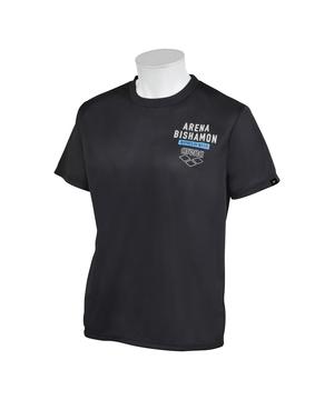 arena  【公式】アリーナ アリーナビシャモン バックロゴTシャツ(吸水速乾)(UPF15) メンズ ウェア tシャツ 水泳 競泳 スイム スイミング 水着 スポーツ AMUQJA52