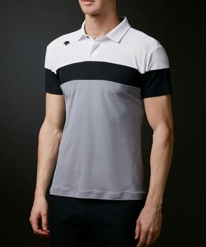 【公式】デサントゴルフ ソロテックス鹿の子三段切り替えシャツ【UV】 メンズ ウェア シャツ ポロシャツ ゴルフ スポーツ DGMRJA06